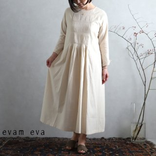 evam eva(エヴァム エヴァ) ファインプリーツワンピース / fine pleats one-piece ecru(11) E201T075