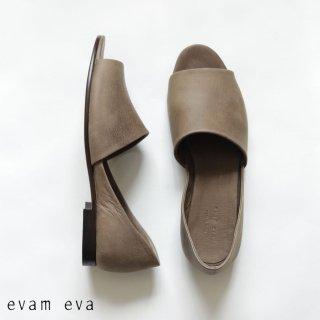 evam eva(エヴァム エヴァ)【2020ss新作】 レザーサンダル / leather sandal moss gray(87) E201Z080