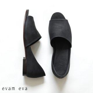 evam eva(エヴァム エヴァ)【2020ss新作】 レザーサンダル / leather sandal black(90) E201Z080