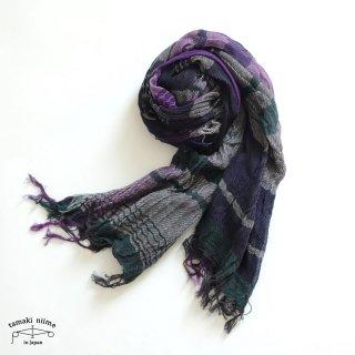 【1点のみゆうパケット可】tamaki niime(タマキ ニイメ)玉木新雌 roots shawl middle 40 / ルーツショール コットン 100% ミドル