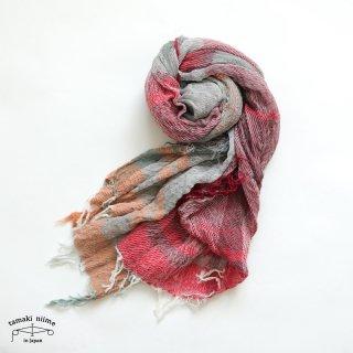 【1点のみゆうパケット可】tamaki niime(タマキ ニイメ)玉木新雌 roots shawl middle 30 / ルーツショール コットン 100% ミドル