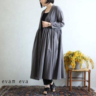 evam eva(エヴァム エヴァ) ギャザーローブ / gather robe maroon gray(76)  E201T113