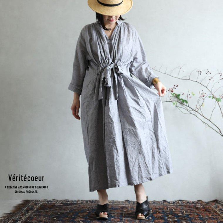 Veritecoeur(ヴェリテクール) ドローストリングワンピース