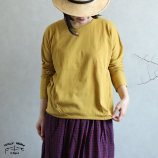 tamaki niime(タマキ ニイメ) 玉木新雌 maru t LONG SLEEVES サイズ2 36 cotton100% マル T ロングスリーブ コットン100%