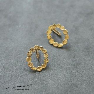 accessories mau (アクセサリー マウ)  まるまる brass イヤリング