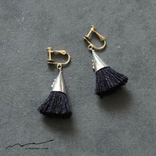 accessories mau (アクセサリー マウ)  つつっぽ silver イヤリング(黒)