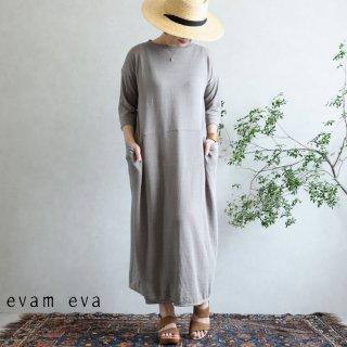 evam eva(エヴァム エヴァ) ハイゲージリネン ワンピース / high gauge linen one-piece sage(52)  E201K173