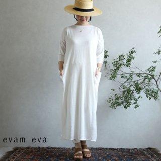 evam eva(エヴァム エヴァ)【2020ss新作】 ハイゲージリネン ワンピース / high gauge linen one-piece off white(02)  E201K173