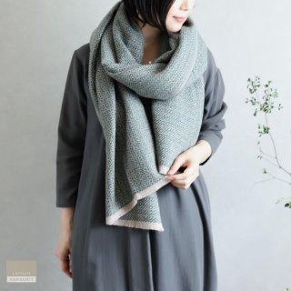 LAPUAN KANKURIT ラプアン・カンクリ【2021AW新作】KOLI merino wool scarf  beige-green コリスカーフ