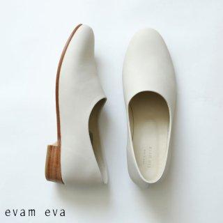 evam eva(エヴァム エヴァ)【2020aw新作】 レザースリッポン / leather slipon smoke white(06) E203Z084