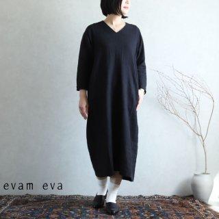 evam eva(エヴァム エヴァ) vie【2020aw新作】ライジングリネンドルマンワンピース/raising linen dolman one-piece black(90) V203T918