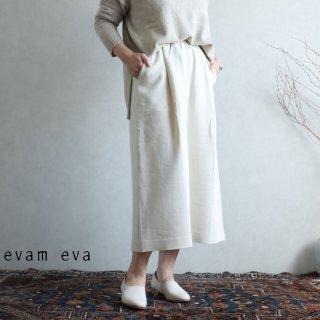 evam eva(エヴァム エヴァ) 【2020aw新作】コットンタックスカート / cotton tuck skirt ecru(11)  E203T072