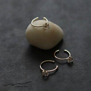 accessories mau (アクセサリー マウ)  ハーキマーダイヤモンド イヤーカフ