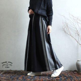 tamaki niime(タマキ ニイメ) 玉木新雌 wide pants LONG wool70% cotton30% WPL_W04 / オンリーワン ワイドパンツ ロング