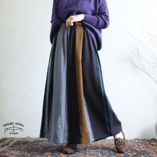 tamaki niime(タマキ ニイメ) 玉木新雌 wide pants LONG wool70% cotton30% WPL_W06 / オンリーワン ワイドパンツ ロング