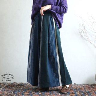 tamaki niime(タマキ ニイメ) 玉木新雌 wide pants LONG wool70% cotton30% WPL_W07 / オンリーワン ワイドパンツ ロング