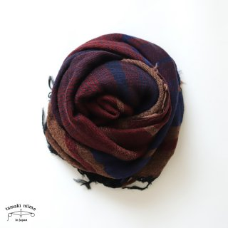 tamaki niime 玉木新雌 roots shawl wool middle RSM_W118/ ルーツショール ウール70% コットン30% ミドルサイズ