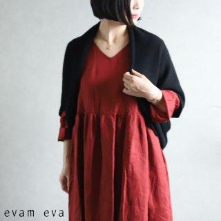 evam eva(エヴァム エヴァ) 【2020aw新作】ウールアンゴラ ボレロ / wool angora bolero black(90)  E203K120