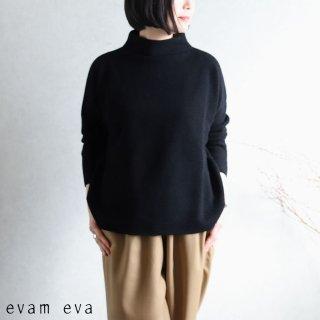evam eva(エヴァム エヴァ) 【2020aw新作】ウールアンゴラ ハイネックプルオーバー/wool angora high necked pullover black(90) E203K118