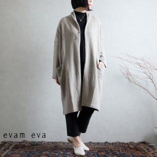 evam eva(エヴァム エヴァ) 【2020aw新作】ウールセーブル ローブ / wool sable robe grege(14)  E203K139