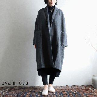 evam eva(エヴァム エヴァ) 【2020aw新作】ロングローブ コート / long robe coat charcoal(89)  E203T126