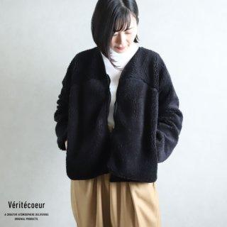 Veritecoeur(ヴェリテクール)【2020AW新作】ボアフリース ジャケット BLACK / VCC-365