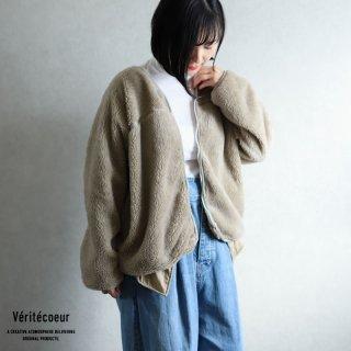 【再入荷】Veritecoeur(ヴェリテクール)【2020AW新作】ボアフリース ジャケット BEIGE / VCC-365