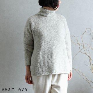 evam eva(エヴァム エヴァ) 【2020aw新作】ローゲージ タートルネック / low gauge turtleneck phantom gray(81)  E203K132