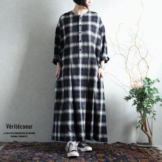 Veritecoeur(ヴェリテクール)【2020AW新作】チェックワンピース BLKCHK / VC-2233