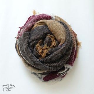 tamaki niime 玉木新雌 roots shawl wool middle RSM_W126/ ルーツショール ウール70% コットン30% ミドルサイズ