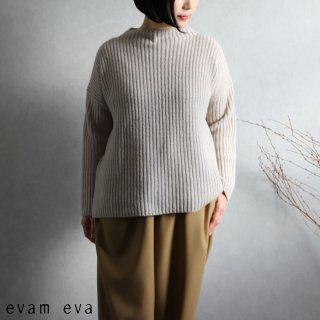 evam eva(エヴァム エヴァ) 【2020aw新作】ソフトウールハイネックプルオーバー / soft wool high necked pullover beige(10)  E203K192