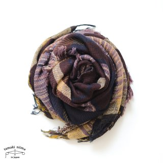 tamaki niime 玉木新雌 roots shawl wool middle RSM_W129/ ルーツショール ウール70% コットン30% ミドルサイズ