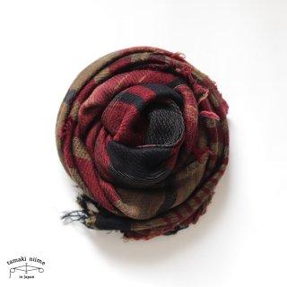tamaki niime 玉木新雌 roots shawl wool middle RSM_W132/ ルーツショール ウール70% コットン30% ミドルサイズ