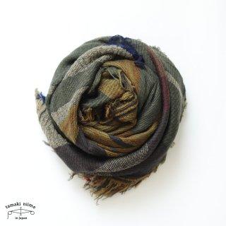 tamaki niime 玉木新雌 roots shawl wool middle RSM_W133/ ルーツショール ウール70% コットン30% ミドルサイズ