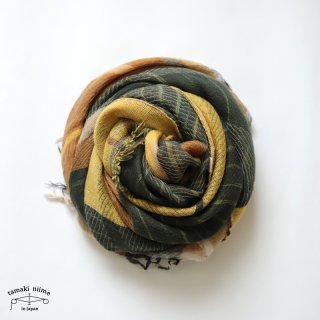 tamaki niime 玉木新雌 roots shawl wool middle RSM_W138/ ルーツショール ウール70% コットン30% ミドルサイズ