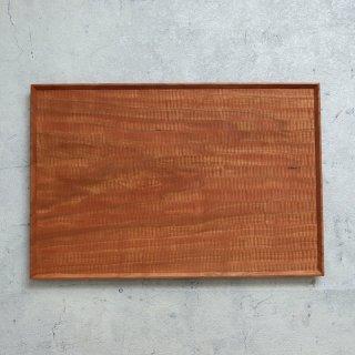 高塚和則 木工房玄 チェリー 一人膳 長方形 こだち彫り (280×420mm)