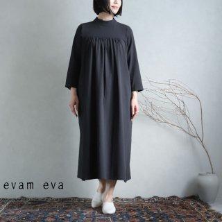 evam eva(エヴァム エヴァ) 【2021ss新作】ハイネックワンピース / high necked one-piece sumi (98) E211T021