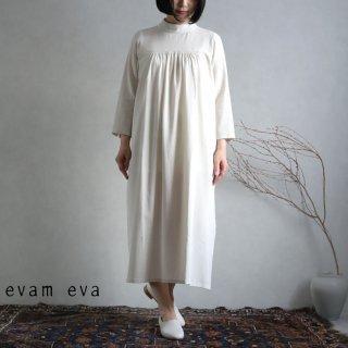 evam eva(エヴァム エヴァ) 【2021ss新作】ハイネックワンピース / high necked one-piece ecru (11) E211T021