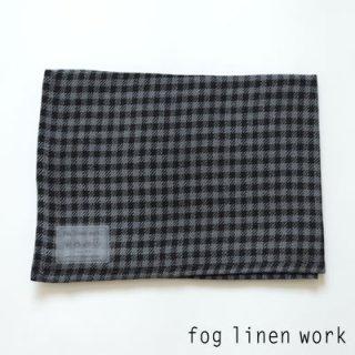 【3点までゆうパケット可】fog linen work(フォグリネンワーク) リネンキッチンクロス テオ/ランチョンマット キッチンタオル LKC001-GYBK