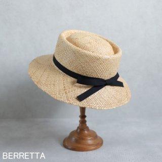 【5月中旬頃お届け予約販売】【限定モデル】BERRETTA(ベルレッタ) ラフィア マープルミディアム 黒テープ 2サイズ(S、M) / ラフィア 箱付き