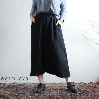 evam eva(エヴァム エヴァ) vie【2021ss新作】ライジングリネン サルエルパンツ / raising linen sarrouel pants sumi (98) V211T919
