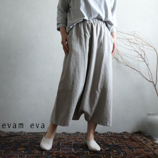 evam eva(エヴァム エヴァ) vie【2021ss新作】ライジングリネン サルエルパンツ / raising linen sarrouel pants sage(52) V211T919