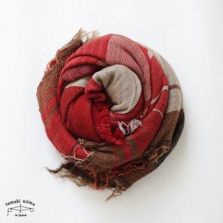 tamaki niime 玉木新雌 roots shawl wool big RSB_W16/ ルーツショール ウール70% コットン30% ビッグサイズ