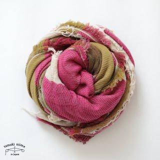 tamaki niime 玉木新雌 roots shawl wool big RSB_W17/ ルーツショール ウール70% コットン30% ビッグサイズ