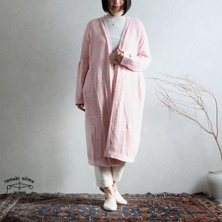 tamaki niime(タマキ ニイメ) 玉木新雌 CA knit enpitsu 02 ピンク系 コットン100%