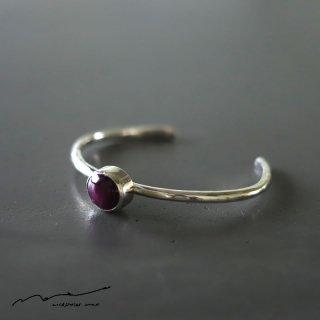 accessories mau (アクセサリー マウ)  スターサファイア silver bangle