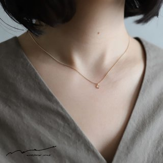 accessories mau (アクセサリー マウ)  スライスダイヤモンドネックレス B