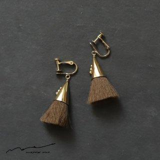 accessories mau (アクセサリー マウ)  つつっぽ brass イヤリング(こげ茶)