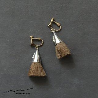 accessories mau (アクセサリー マウ)  つつっぽ silver イヤリング(こげ茶)