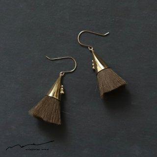 accessories mau (アクセサリー マウ)  つつっぽ brass ピアス(こげ茶)